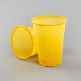 Стакан одноразовый 200 мл 'МОПС', цвет желтый Ош
