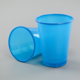 Стакан одноразовый 200 мл 'МОПС', цвет синий Ош