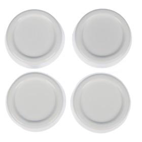 Набор подставок антивибрационных, круглые, 4 шт, цвет белый