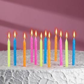 """Свечи в торт """"Неон"""" 12 шт, высокие"""