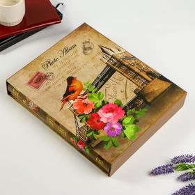 """Фотоальбом на 400 фото 10х15 см """"Башня. Цветы. Птица"""" в коробке МИКС 44х27х5,5 см"""