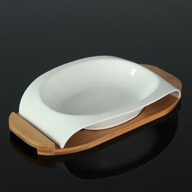 The salad bowl 800 ml Estet, on a wooden stand