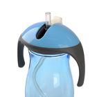 Поильник с трубочкой детский, 270 мл, от 9 мес., цвет голубой - фото 105490639