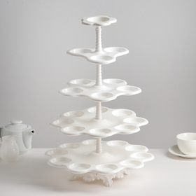 "The cake stand ""Cascade"", 5 tier, white"