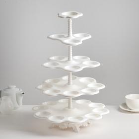 Подставка для пирожных «Каскад», 5 ярусов, цвет белый