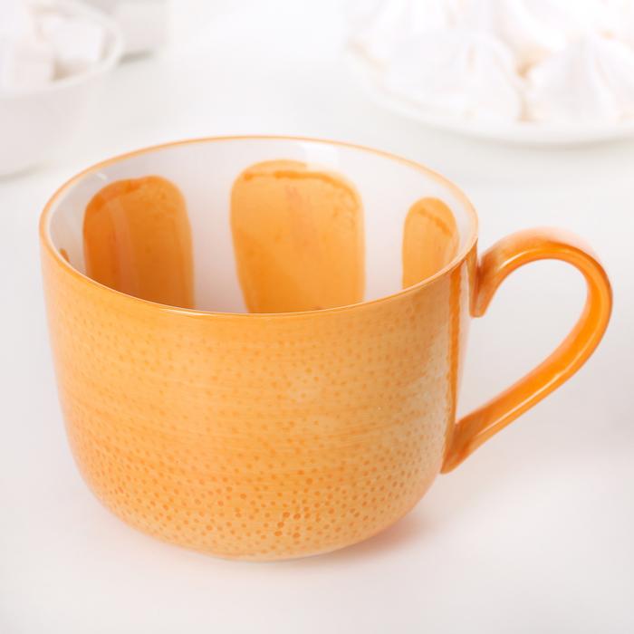 """Кружка 420 мл """"Апельсин"""", цвет оранжевый"""