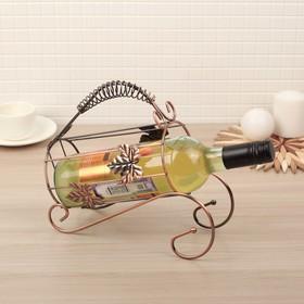 Подставка для бутылки Доляна «Кленовый лист», 24×10×22 см