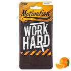 "Ароматизатор бумажный в авто ""Work Hard"", мотивация, апельсин"