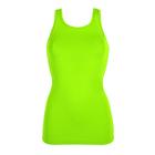 Майка женская (футболка) 195F30 цвет лайм, р-р 42-44 (S)
