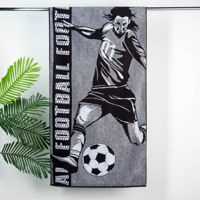 "Полотенце махровое Этель ""Футболист"" 70х130 см, 100% хл, 420 гр/м2"