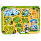 Детский ультрамягкий игровой коврик «Зоопарк», размер 180х130 см