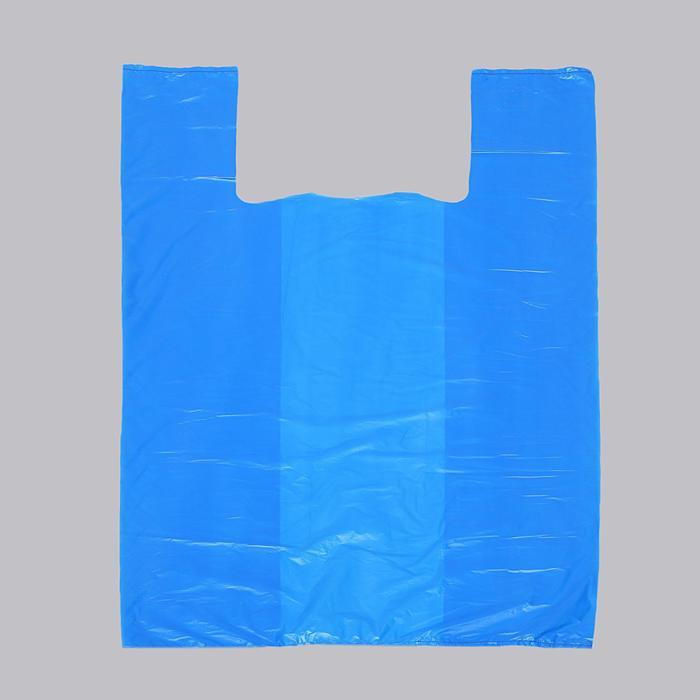 """Пакет """"Синий"""", полиэтиленовый, майка 37 х 67 см, 20 мкм - фото 308983408"""