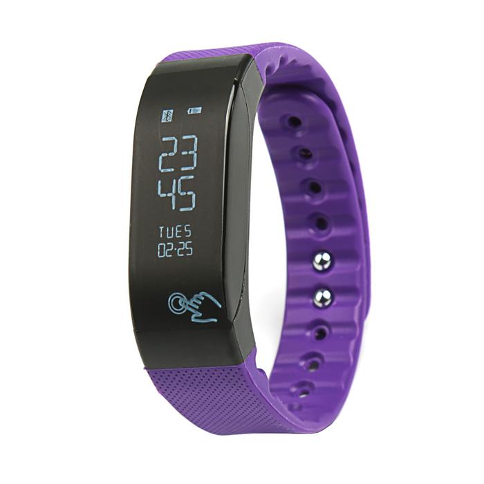 Фитнес-браслет SMA Coach, с оптическим датчиком пульса, фиолетовый
