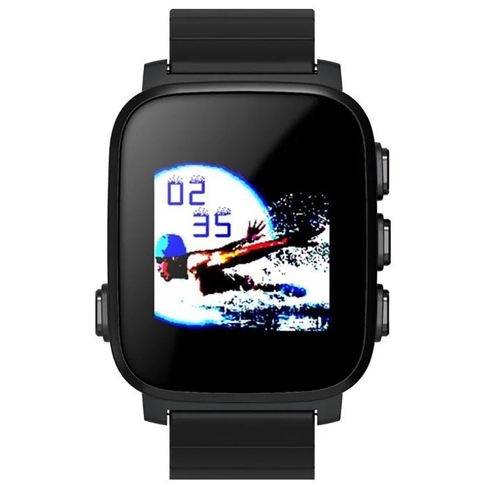Часы умные SMA Q2 Lite, с оптическим датчиком пульса, черные