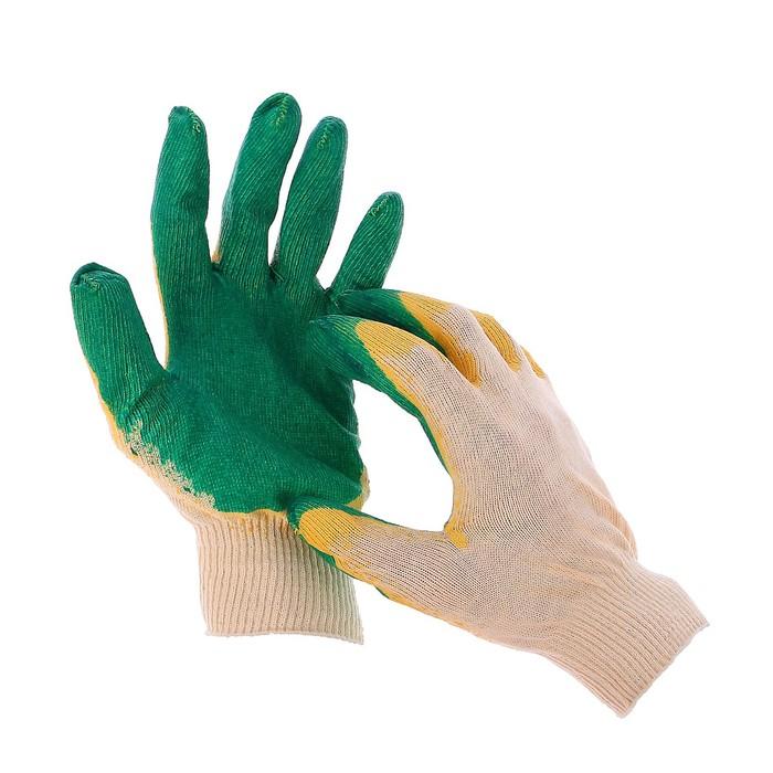 Перчатки, х/б, вязка 13 класс, размер 9, двойной латексный облив