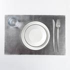 """Napkin kitchen 42х28 cm """"Eco style"""" color silver"""