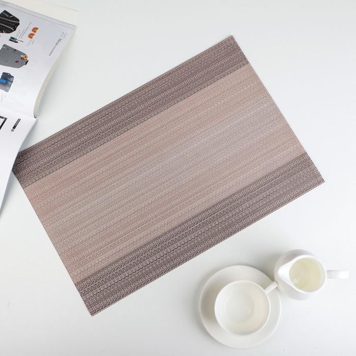 """Салфетка кухонная 45,5×30 см """"Вязание"""", цвет бежевый"""