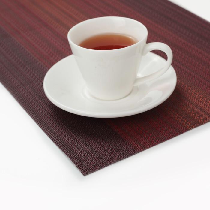 """Салфетка кухонная 45,5х30 см """"Вязание"""", цвет бордовый"""