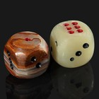 Dice playing, 3.8 cm, onyx