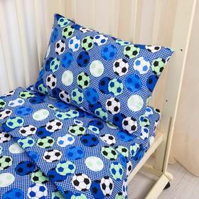 Детское постельное бельё «Футбол», 140х110 см, 110х140см, 40х60 см, поплин