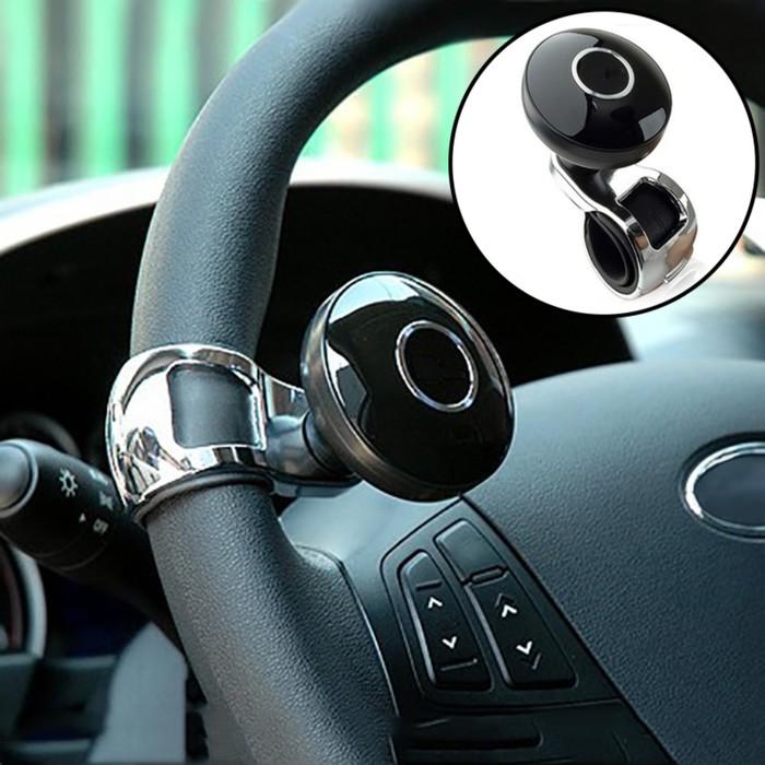 Ручка на руль, металл крепление, черный-хром кольцо,