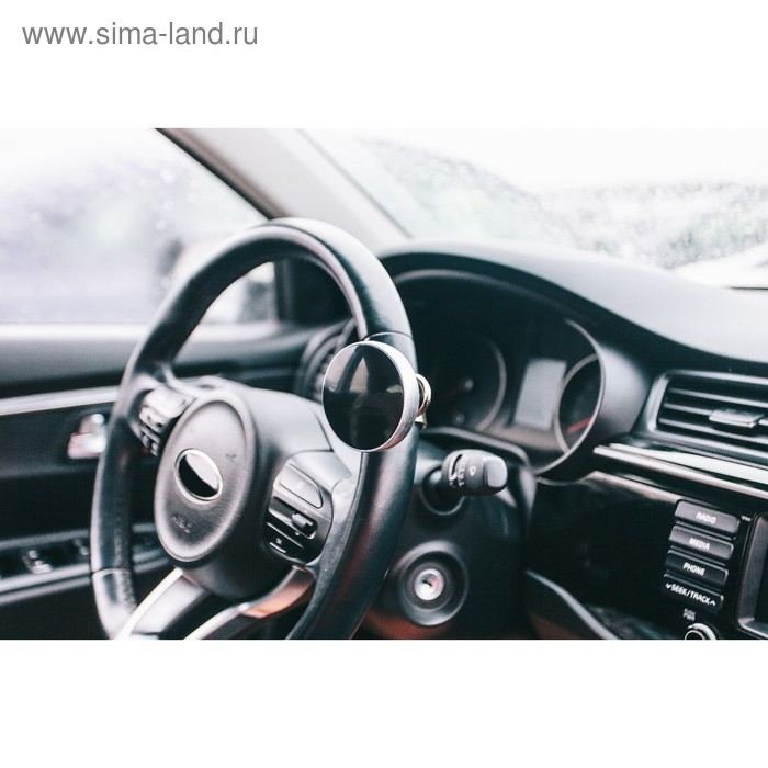 Ручка на руль, металл крепление, чёрно-серебристый