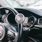 Ручка на руль, металл крепление, серебро- хром кольцо