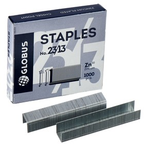 Скобы для мощного степлера GLOBUS, 1000 шт., №23/13, высококачественная сталь