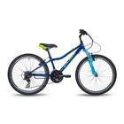 """Велосипед 24"""" Pride Brave 21, 2018, цвет синий/голубой/лайм"""