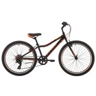 """Велосипед 24"""" Pride Brave 7, 2018, цвет черный/оранжевый/красный"""