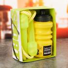 Набор «Требуй от себя невозможного»: бутылка для воды 450 мл, скакалка 280 см