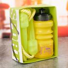 Набор «Верь в себя»: бутылка для воды 450 мл, скакалка 280 см