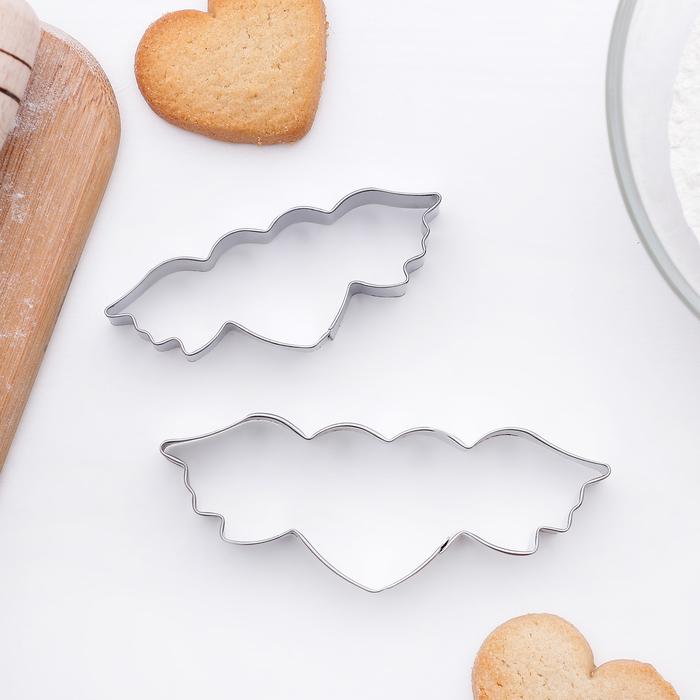 """Набор форм для вырезания печенья 9x4 см """"Сердце с крыльями"""", 2 шт - фото 142249756"""