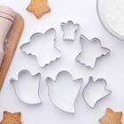 """Набор форм для вырезания печенья 7x13 см """"Ангел,приведение"""", 6 шт - фото 129406566"""