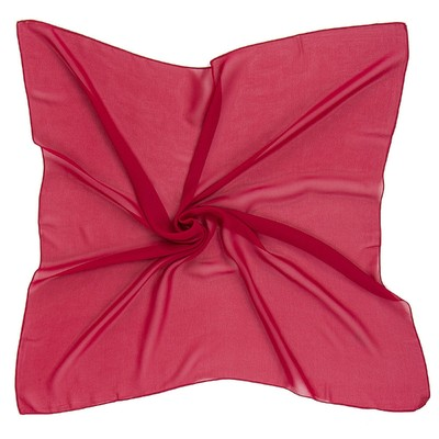 Платок текстильный 54S_B21 цвет бордовый, размер 72х72