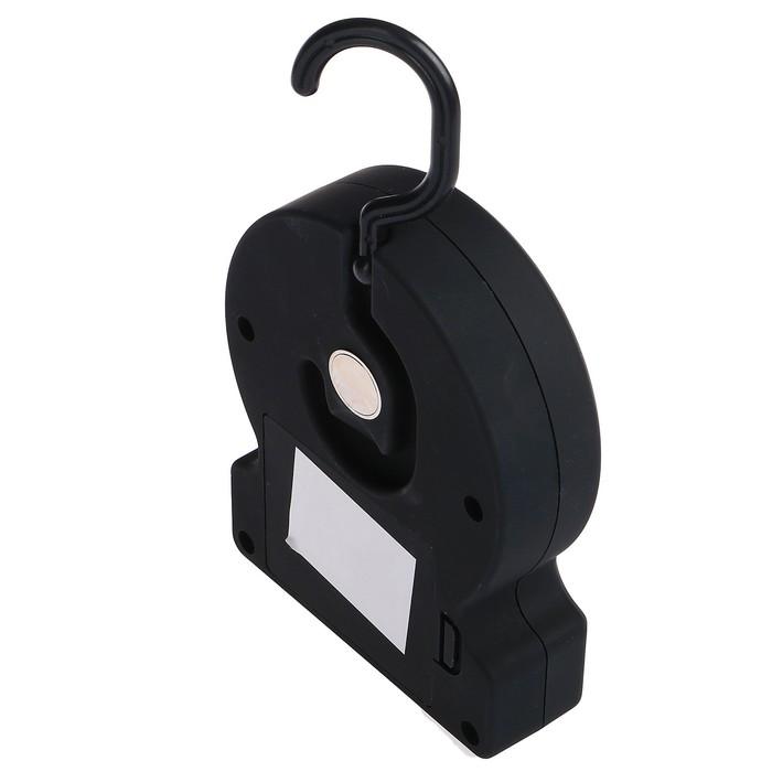 Фонарь переносной с крючком и магнитом, 2 типа освещения, 2 режима, 3 АА, микс, 9х12 см