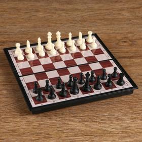 """Игра настольная """"Шахматы"""" классические, доска объёмная, 9х17.5 см"""