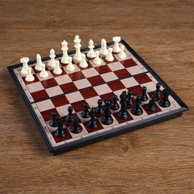 "Шахматы ""Классические"", на магните, (фигуры пластик, доска пластик 24х24см)  микс"