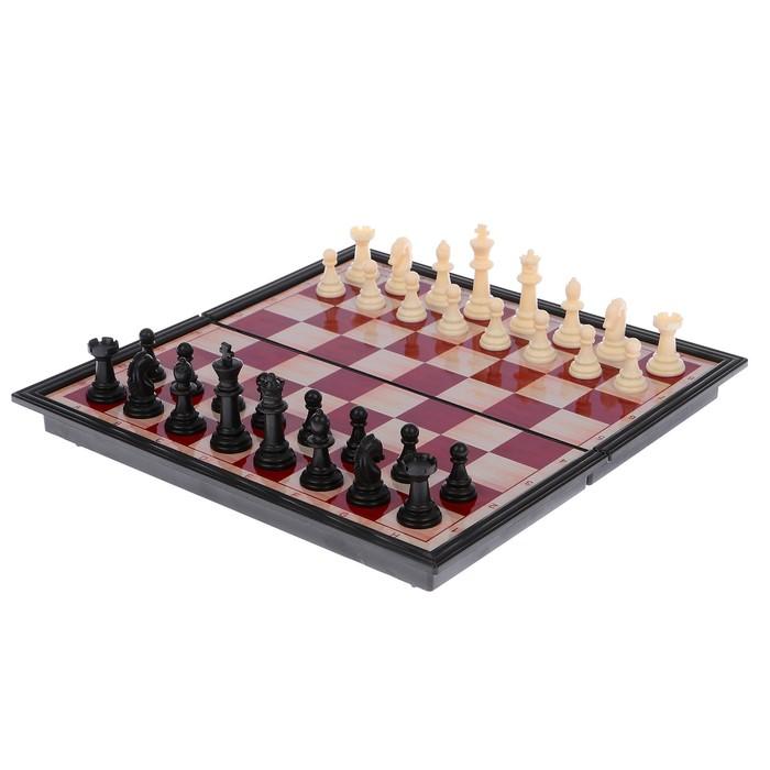 Игра настольная «Шахматы» классические, доска объёмная, 18х36 см