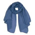 Палантин текстильный PCB105_19 цвет синий, размер 70х180