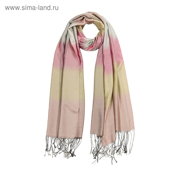 Палантин текстильный PG1840_7 цвет бежевый, размер 70х180