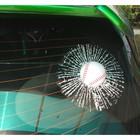 """Наклейка на автомобиль """"Разбитое стекло"""", бейсбольный мяч"""