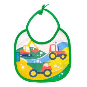 Нагрудник детский «Транспорт» из махры, непромокаемый, размер 20х20 см