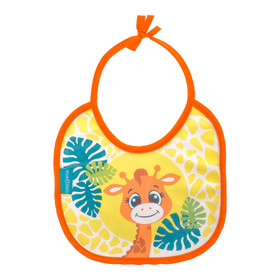 "Baby bib ""... ... "" from Terry, waterproof, size 20x20 cm"