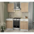 Кухонный Гарнитур Алиса 1, 1200 мм, цвет Дуб Сонома/Белый
