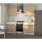 Кухонный Гарнитур Алиса 2, 1600 мм, цвет Дуб Сонома/Белый