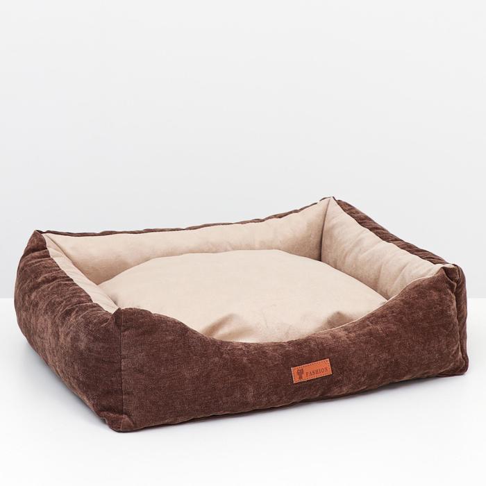 Лежанка со съемным чехлом,  мебельная ткань, попролон, 55 х 45 х 15 см