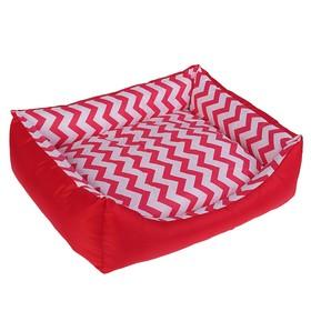 Лежанка 'Зиг-заг', 55 х 45 х 15 см, красная Ош