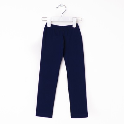 Брюки(легинсы) для девочки, рост 110 см, цвет синий 421/1