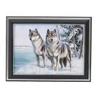 """Картина """"Красивые волки"""" 21*16 см"""